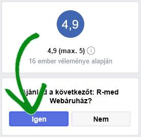 R-med Webáruház - facebook értékelés