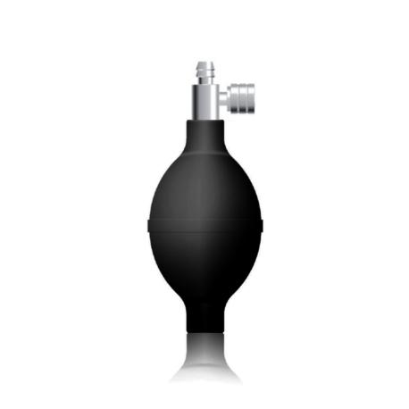 Kézipumpa higanyos vérnyomásmérőkhöz H3, fekete, prémium fém leeresztőszeleppel