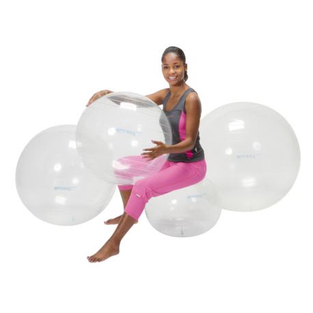 Gymnic® Opti Ball Átlátszó gimnasztikai torna és ülőlabda