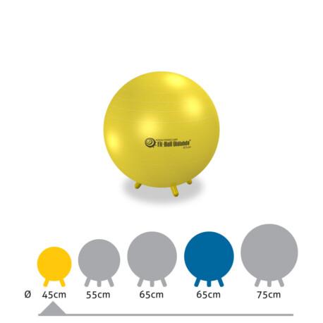 Fit-Ball Ülőlabda lábakkal sárga 45 cm