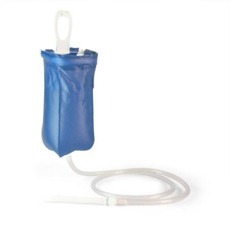 Utazó irrigátor komplett 2 L - kék, összehajtható