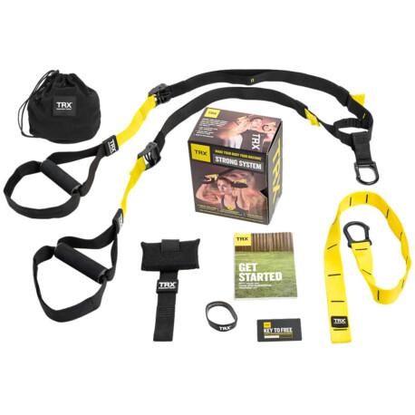 TRX STRONG SYSTEM Otthoni használatra Suspension Trainer edzőkötél/heveder + 8 letölthető edzés